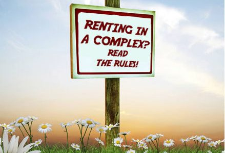 RENTING IN A COMPLEX?  READ THE RULES!